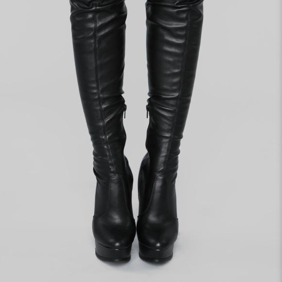 7e7123bfac5a WILD DIVA Lounge Thigh High Boots Polly-02